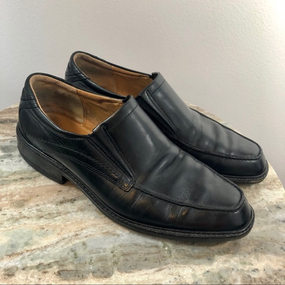 73edab0a0a Ecco Mens Loafers size 42 Leather Black